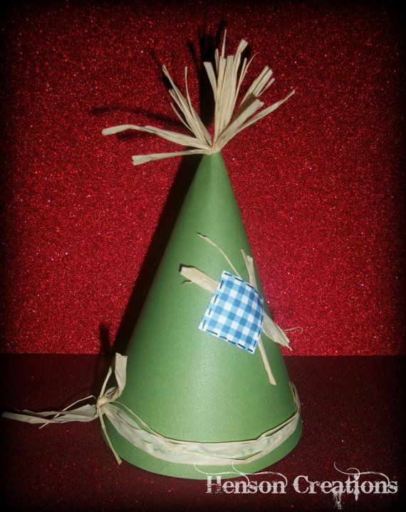 7 Scarecrow Party Hats - Wizard of Oz birthday.  photo booth