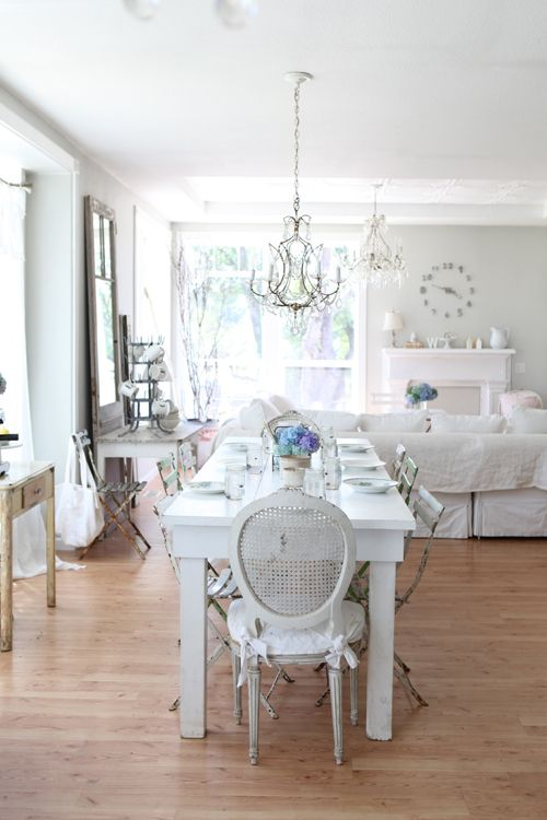 Shabby chic French country home