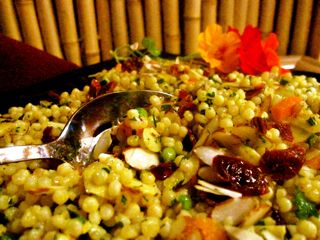 Curried Israeli couscous salad. Great recipe!! http://www.annarbor.com ...