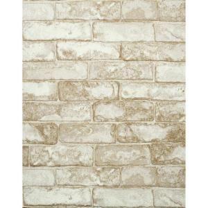 57 sq ft rustic brick wallpaper Brick wallpaper home depot