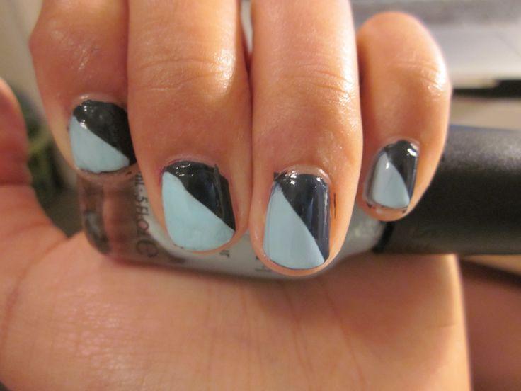 fun nail design using tape | cool nail designs | Pinterest