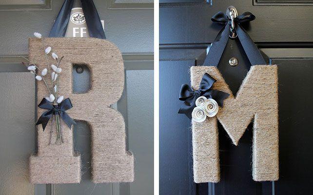 Сделать буквы из картона