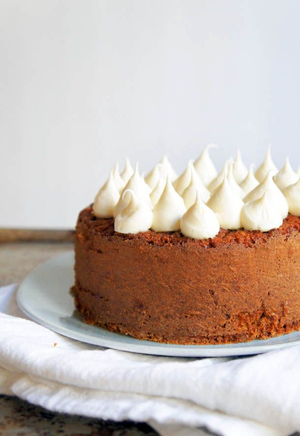 Banana Cake with Coconut and Creamy Honey Frosting (healthy & gluten ...