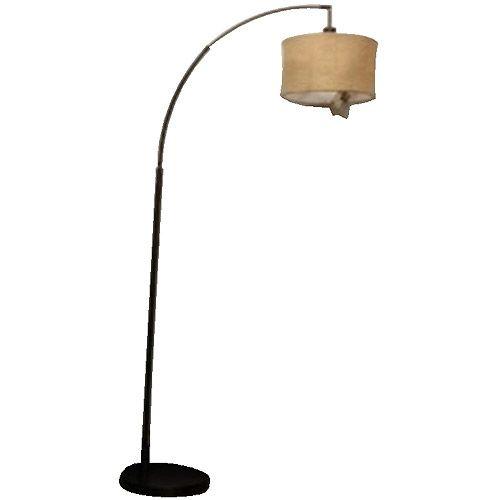 and gardens burlap arc floor lamp bronze finish decor. Black Bedroom Furniture Sets. Home Design Ideas