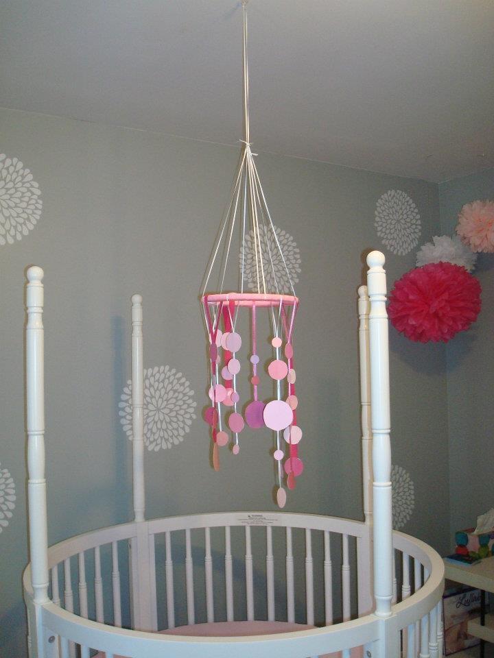 diy baby girl nursery mobile baby love