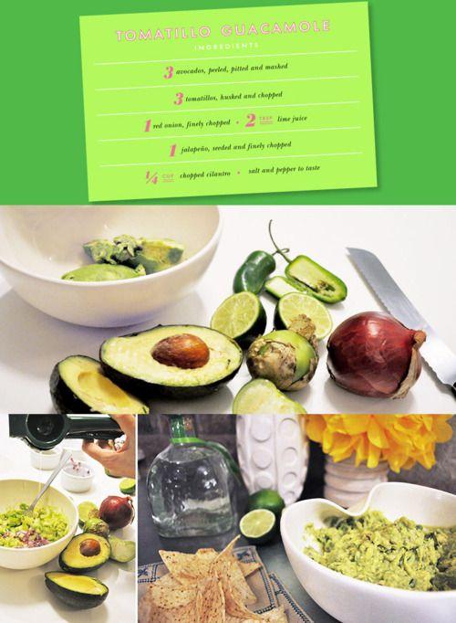 tomatillo guacamole | yummy | Pinterest