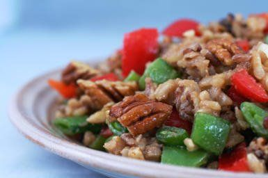 Brown and Wild Rice Salad with Snow Peas (or Sugar Snap Peas) and Pep ...