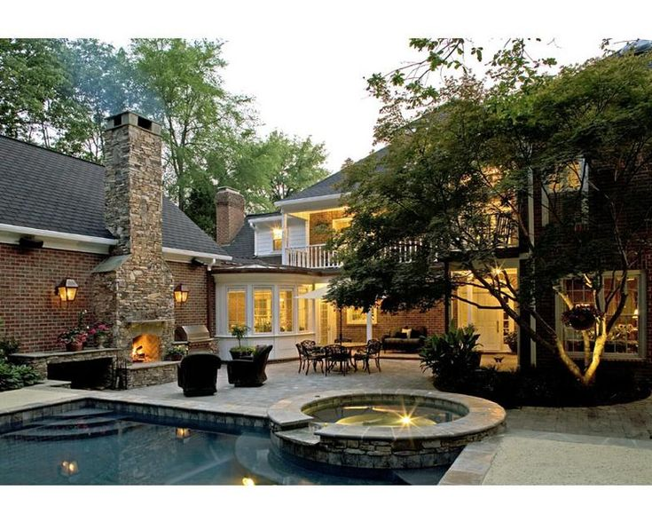 Pool And Fireplace Swimming Pools Surrounds Pinterest