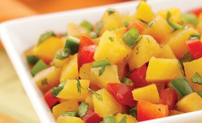 Sweet & Spicy Peach Salsa Recipe | P is for Peaches | Pinterest