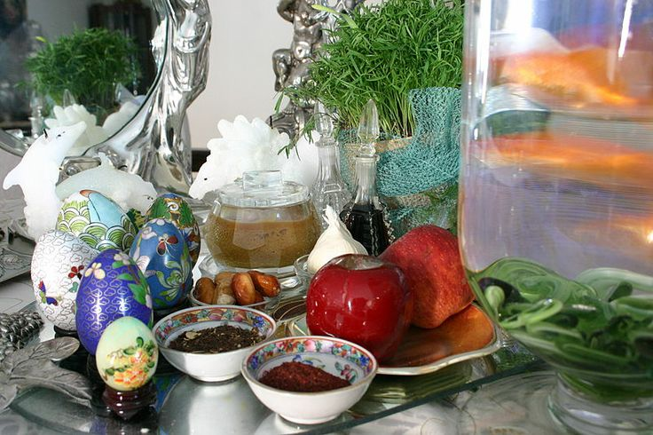 Haft Sin table ready for Persian New Year | Persian world