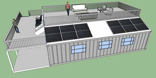 Off grid shipping container home designs zombie apocalypse pinter - Off the grid shipping container homes ...