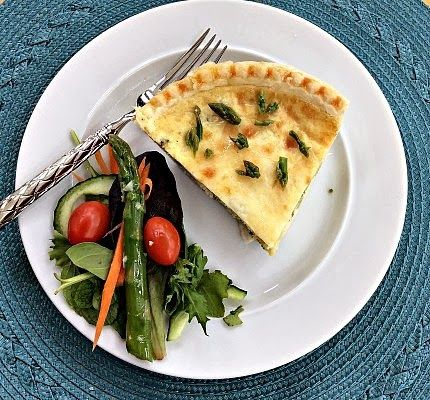 Gluten and Dairy Free Spring Asparagus & Leek Quiche; great for ...