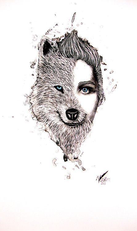 Half Human Half Wolf Male Half Human Half...