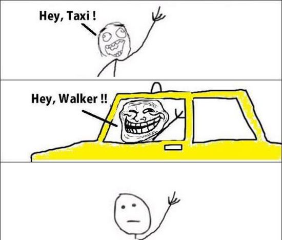 Ein Taxi-Meme