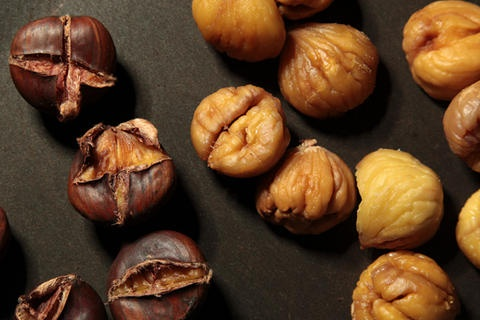 """Pan-Roasted Chestnuts Recipe_ Adapted from """"Lidia's Italy"""" by ..."""