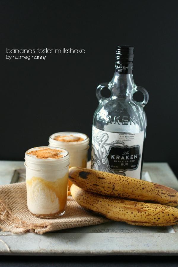 Bananas Foster Milkshake via @Brandy O'Neill {Nutmeg Nanny} // #banana ...