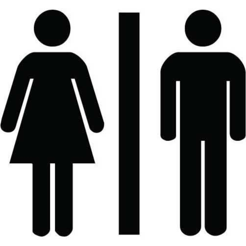 Unisex Bathroom Sign Funny Sticker For Your Toilet
