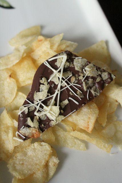 salt smoked salt pretzel and potato chip chocolate bark recipes smoked ...