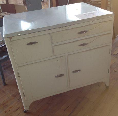 hoosier cabinet with enamel top vintage retro kitchen style pinte