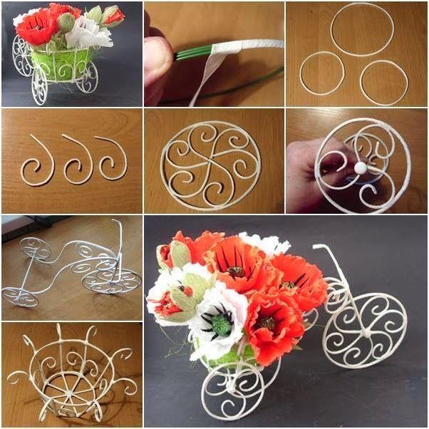 Из сделать декоративные цветы своими руками