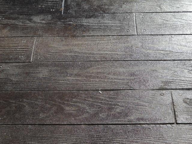 Wood stamped concrete for the home pinterest for Hardwood floor concrete stamp