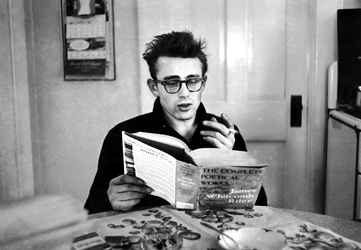 James Dean reading James Whitcomb Riley