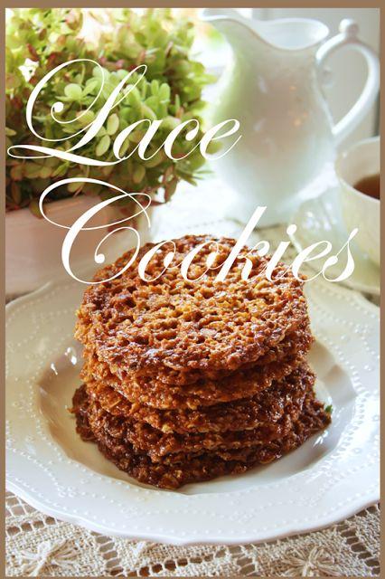 Irish Lace Cookies | Cookies Cookies & More Sweets! | Pinterest