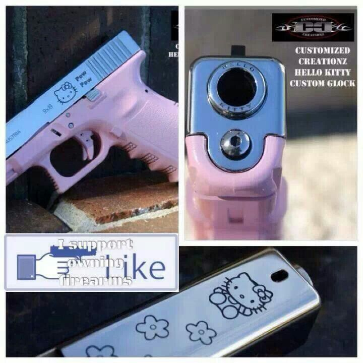 hello kitty glock how cute is that military