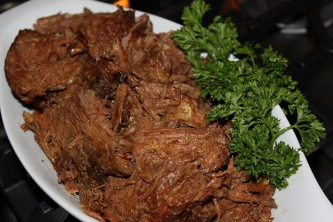 Crock Pot Shredded Roast Beef | New Recipes | Pinterest