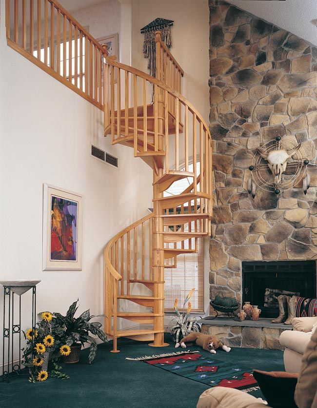 Best Spiral Staircase To The Cabin Loft Home Decor Pinterest 640 x 480