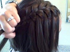 Waterfall Braid (short hair)