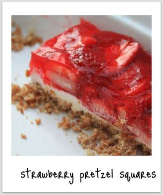 Strawberry pretzel squares   cooking   Pinterest
