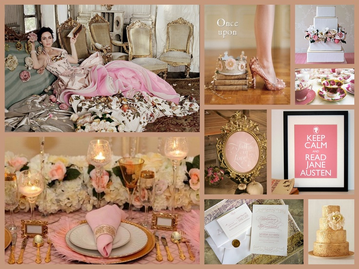 Glitzy Gold & Pink #daweddings