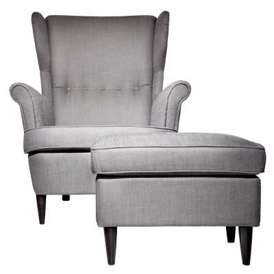 Ikea strandmon chair and ottoman california home pinterest for Ikea chair with ottoman