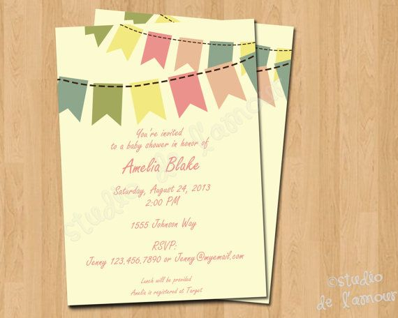 PRINTABLE PDF Invitation for Baby Shower or Bridal Shower