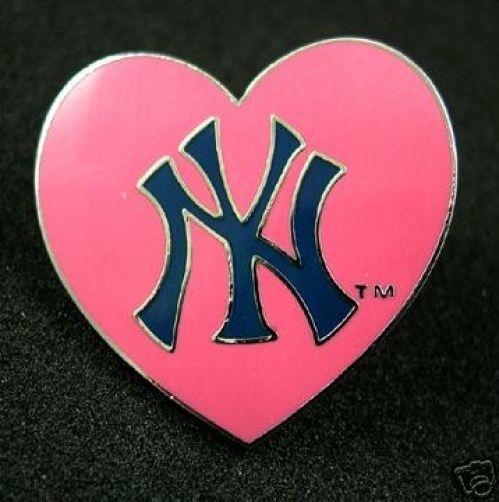 New York Yankees Logo Heart EnamelPink Yankees Logo