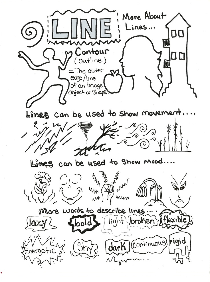 Line Drawing Artists Examples : Line art element handout bw pinterest