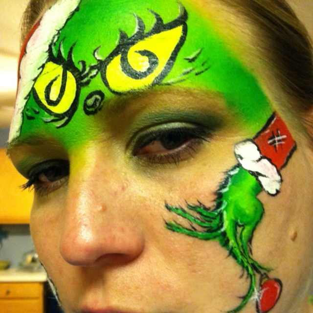 Lisa joy young grinch design my face painting pinterest