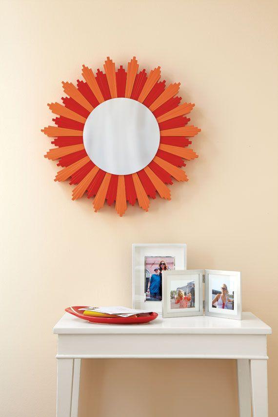 Diy Mirror Wall Decor Ideas : Craft project diy wall decor