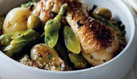 Waterblommetjie, chicken, green olive and preserved lemon tagine # ...