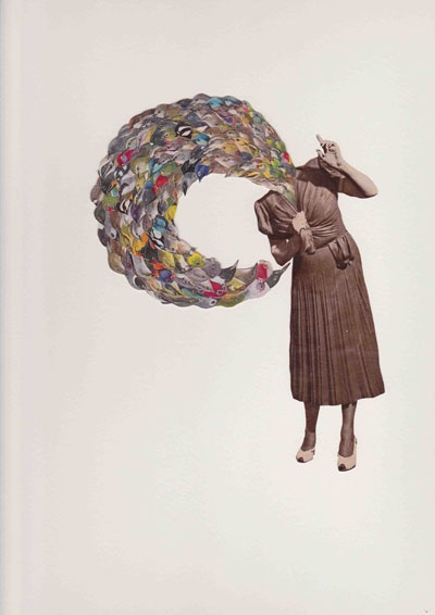 Lucy James, bird girl flappin' and squawkin', 2011, collage on paper