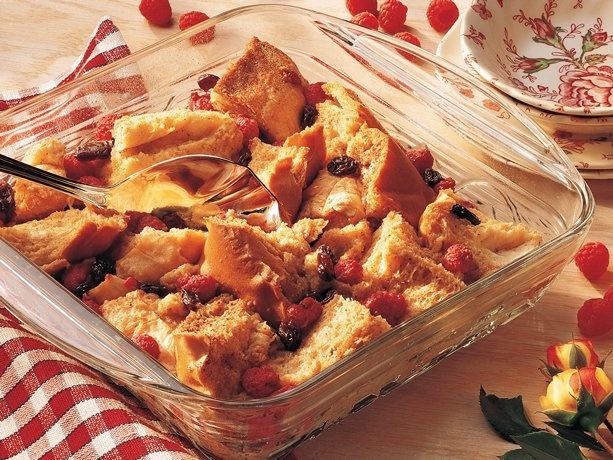 Raspberry Bread Pudding | Food Glorious Food | Pinterest