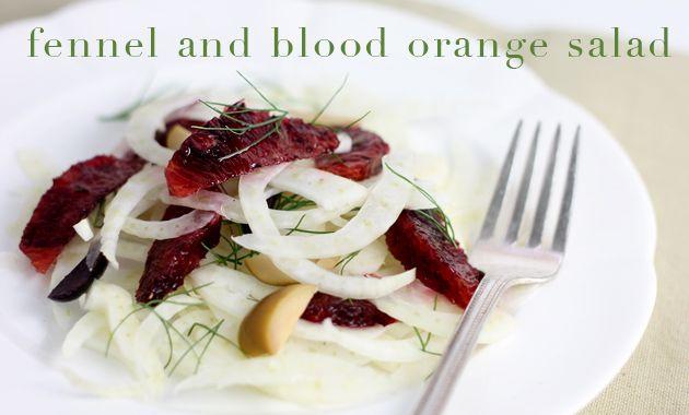 fennel and blood orange salad   Salads and Sides   Pinterest