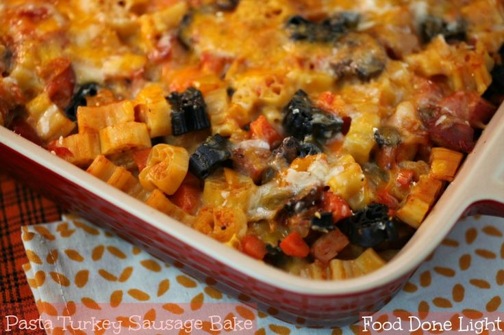 Turkey Italian Sausage, Mushroom, Marinara, And Ricotta Pasta Bake ...