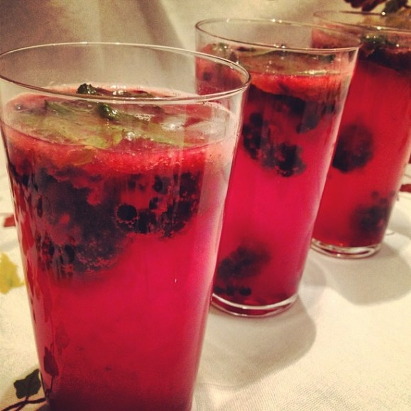 Blackberry and lemon gin and tonics | Yum-O | Pinterest