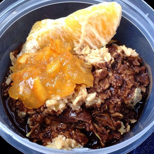photo: Post workout oats today are cinnamon ginger orange oats ...