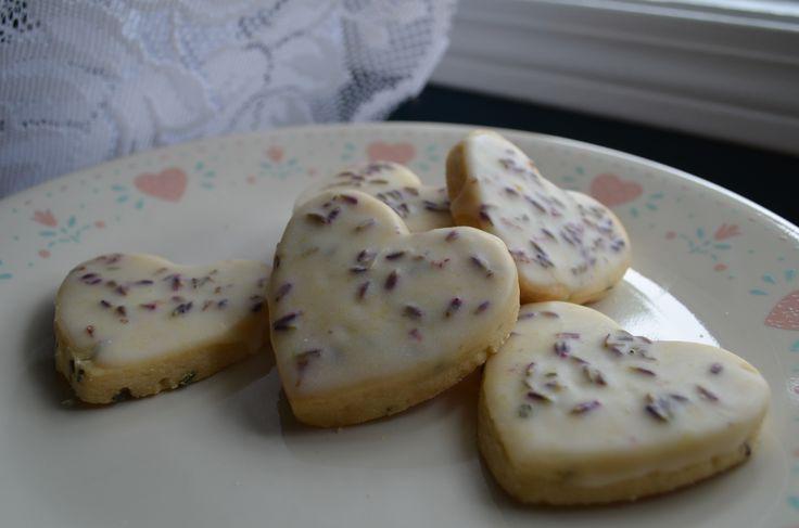 Iced Lemon Lavender Shortbread Cookies | Wake & Bake | Pinterest