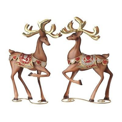 Prancing Reindeer | Gold, Copper & Black Christmas | Pinterest