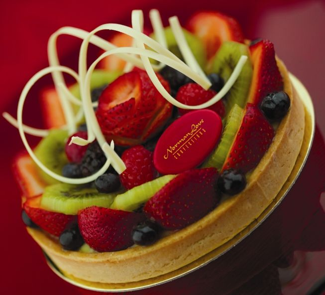 Fresh Fruit Tart with Vanilla Pastry Cream and Almond Frangipane # ...