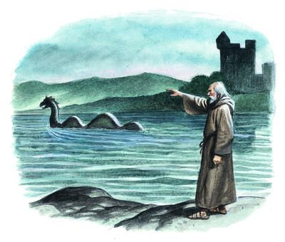 The first mention of Loch Ness monster creature is from the story of ...